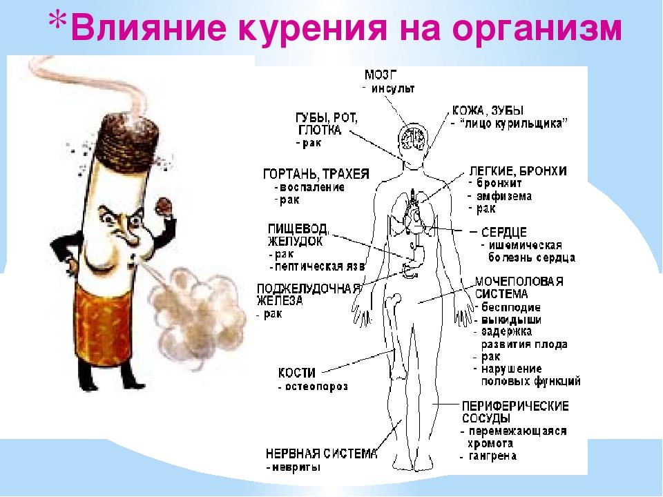 Курение влияние на организм кратко