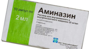 Применение аминазина при наличии алкоголя в крови
