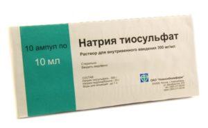 Тиосульфат натрия и алкоголь:совместимость