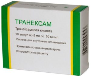 Транексамовая кислота - список и форма выпуска средств с веществом в составе, противопоказания и отзывы