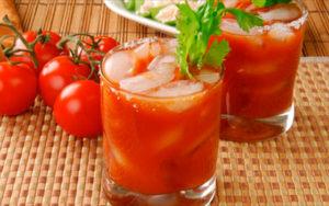 Томатный или помидорный сок от похмелья