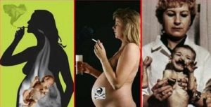 курила не знала о беременности и пила алкоголь