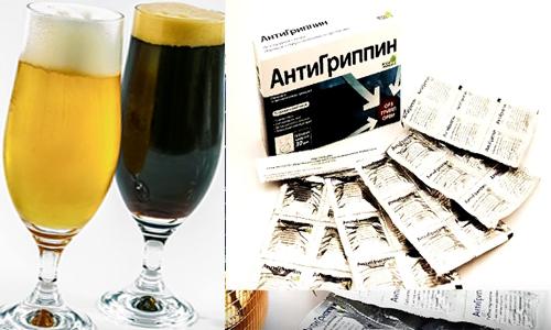 Что будет если принимать Антигриппин и алкоголь во время лечения